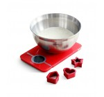 Brabantia Baking Gift Set with Mixing Bowl, Essential Kitchen Scales & 3 Cookie Cutters