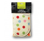 Cooksmart Spots Design Double Oven Glove