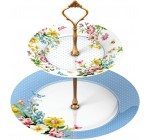 Creative Tops Katie Alice English Garden Shabby Chic 2-Tier Porcelain Cake Plate Stand