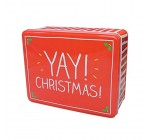 Happy Jackson Deep Rectangular Christmas Storage Tin