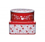 Kitchen Craft Winter Woodland Round and Square Cake Tins, Set of 2