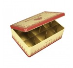 Plaisirs de France Comptoir de Famille Retro/Vintage Tin Tea Box, 9 Compartments