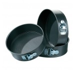 Premier Housewares Spring Form Black Cake Tins, Set of 3