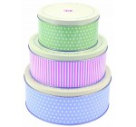 Tala Retro Design Round Cake Tins, Set of 3