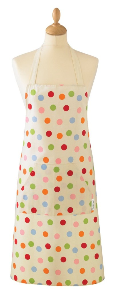 Cooksmart Apron with Colourful Spot Design