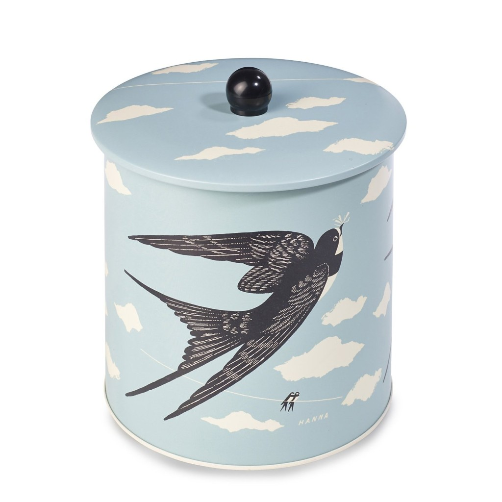 John Hanna Swallow Design Biscuit Barrel