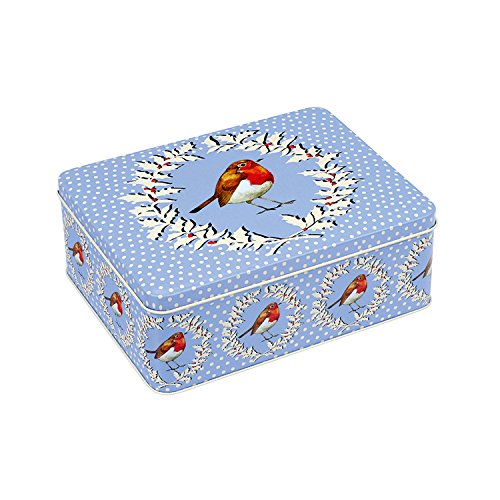 Emma Bridgewater Christmas Robin Wreath Deep Rectangular Tin